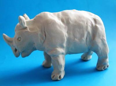 Лепка: носорог из пластилина