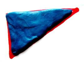 Треугольник из пластилина