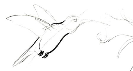 Нарисуем колибри