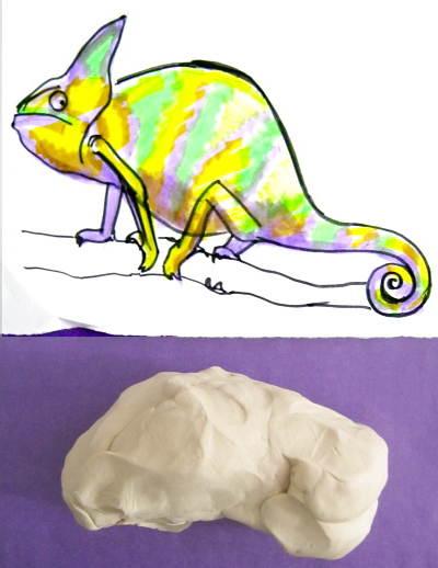 Как слепить хамелеона