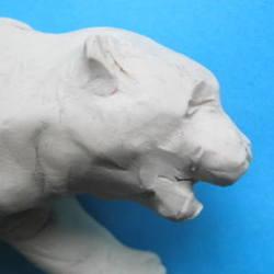 Слепим голову тигра