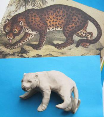 Ягуар из пластилина
