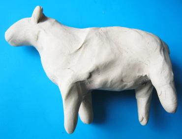 Лепим овечку из пластилина поэтапно