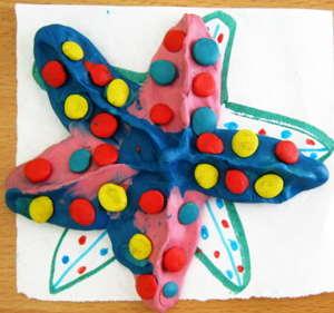 Морская звезда -поделка из пластилина