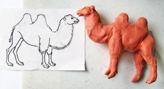 Лепка :верблюд из пластилина