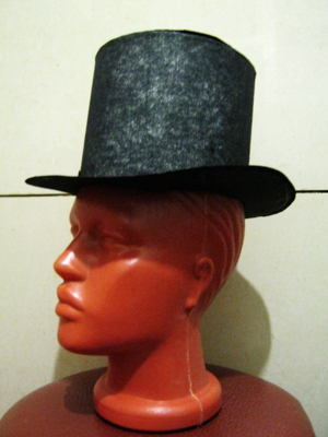 Шляпа-цилиндр из бумаги своими руками.
