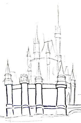 Рисуем крепостные стены