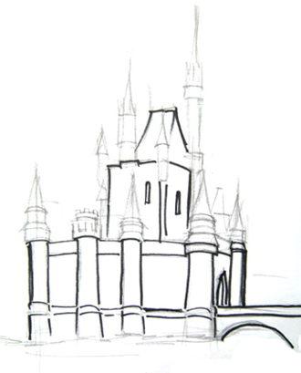 Рисуем  красивый замок