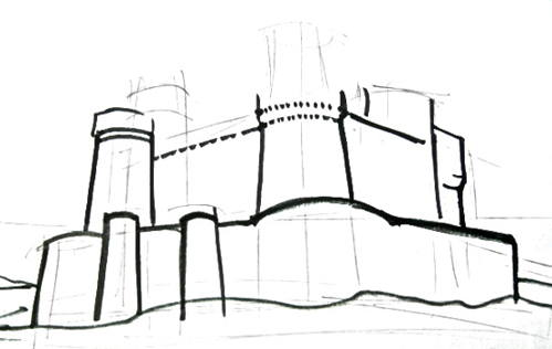 Нарисуем замок поэтапно