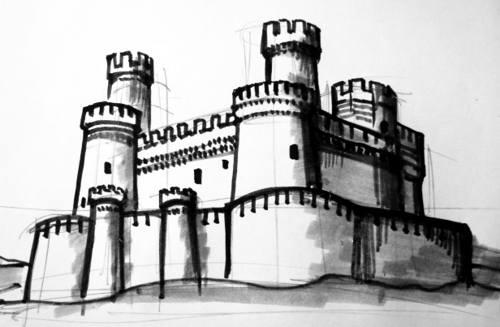 Замок рисунок.
