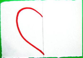 Этапы рисования Сердечка