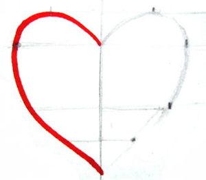 Нарисуем сердечко по линейке