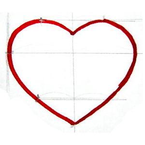 Как нарисовать сердечко красиво