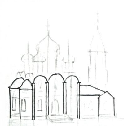 Рисуем церковь
