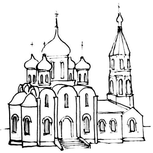 Рисунок церковь