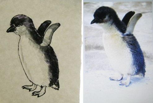 Рисунок пингвинёнок -8