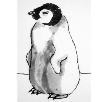 Как нарисовать пингвинёнка и раскраска Пингвинёнок