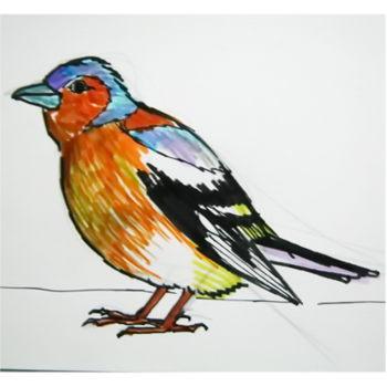 Как нарисовать Зяблика и раскраска Зяблик