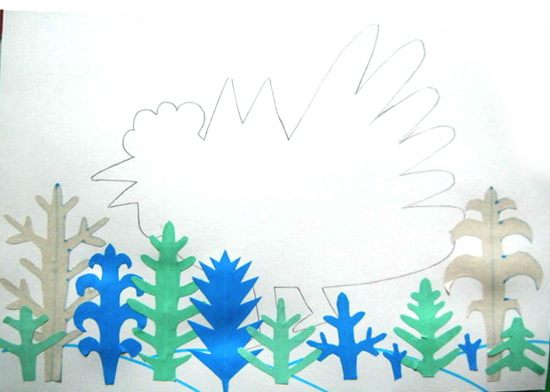 Аппликация сказочный лес