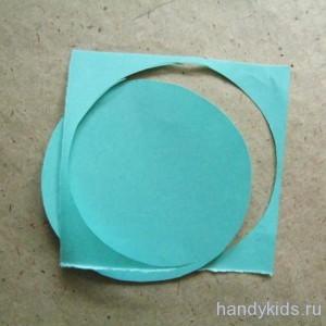 Вырезаем круг из квадрата