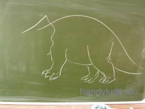 Как нарисовать  трицератопса