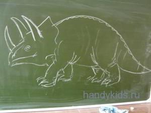 Трицератопс-рисунок
