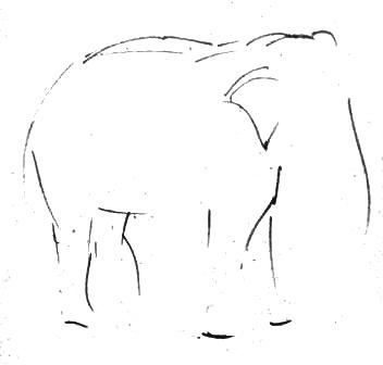 Нарисуем слона поэтапно