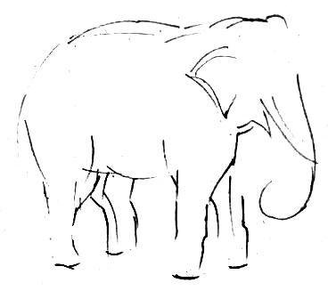 Урок рисования слона
