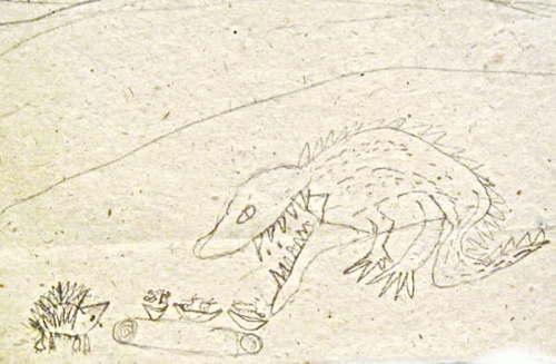 Иллюстрация к сказке Крокодил и Ёж