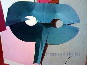 Этапы изготовления маски слона