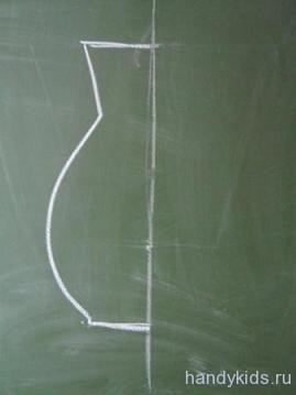 как правильно нарисовать симметричный предмет