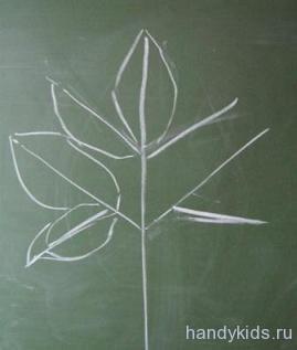 Рисуем сложный лист растения