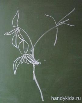 Ветка дерева с листьями