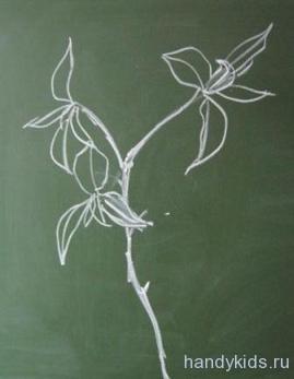 Рисунок ветки дерева