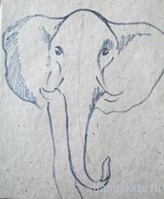 Изображаем голову слона