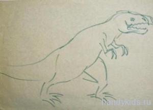 Рисунок тиранозавра