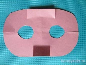 Выкройка для маски поросёнка