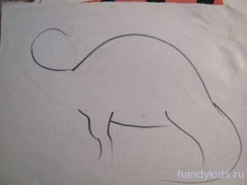 Как нарисовать диплодока