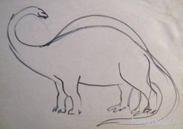 Как рисовать диплодока