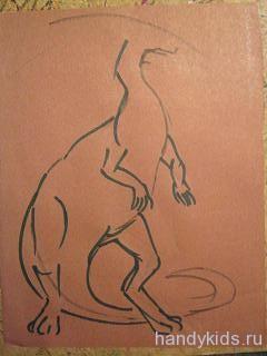 Как рисовать динозавра