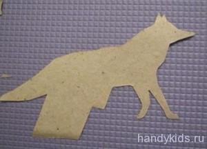 Как вырезать лису из бумаги