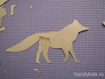 Как вырезать из бумаги лису.
