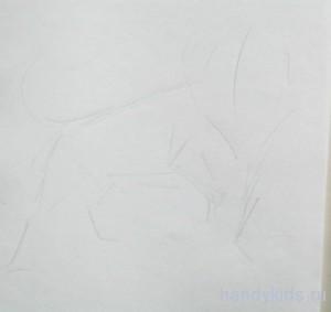 Как рисовать льва поэтапно