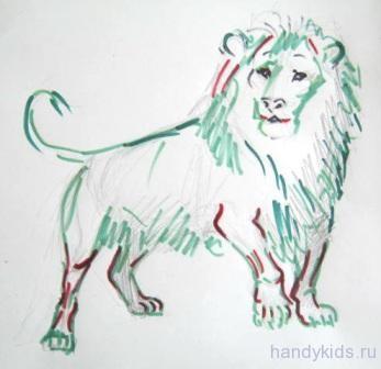Как рисовать льва