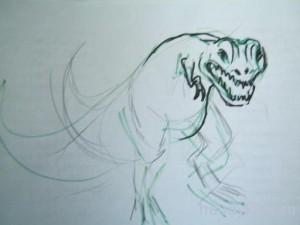 Как нарисовать динозавра по воображению