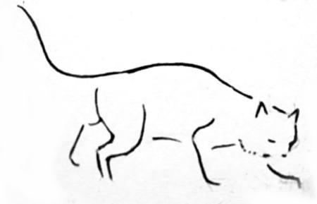 Рисуем кошку 2