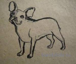 Урок рисования:собака