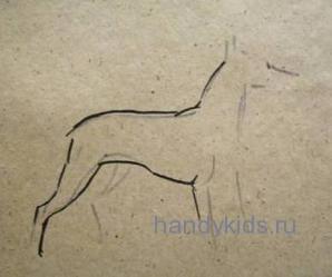 Рисуем собаку.