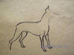 Урок рисования собаки