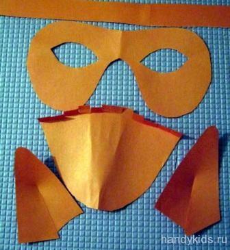 Сделаем маску лисы